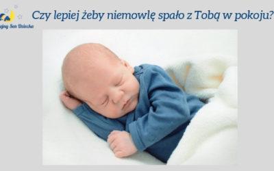 Czy lepiej żeby niemowlę spało z Tobą w pokoju?